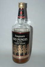 WHISKY 100 PIPERS SEAGRAM´S DE LUXE SCOTCH WHISKY AÑOS 70/80 75cl.