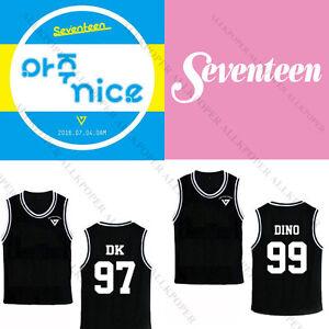 Kpop Seventeen 17 Dino Basketball Singlet T Shirt Hoshi Sleeveless