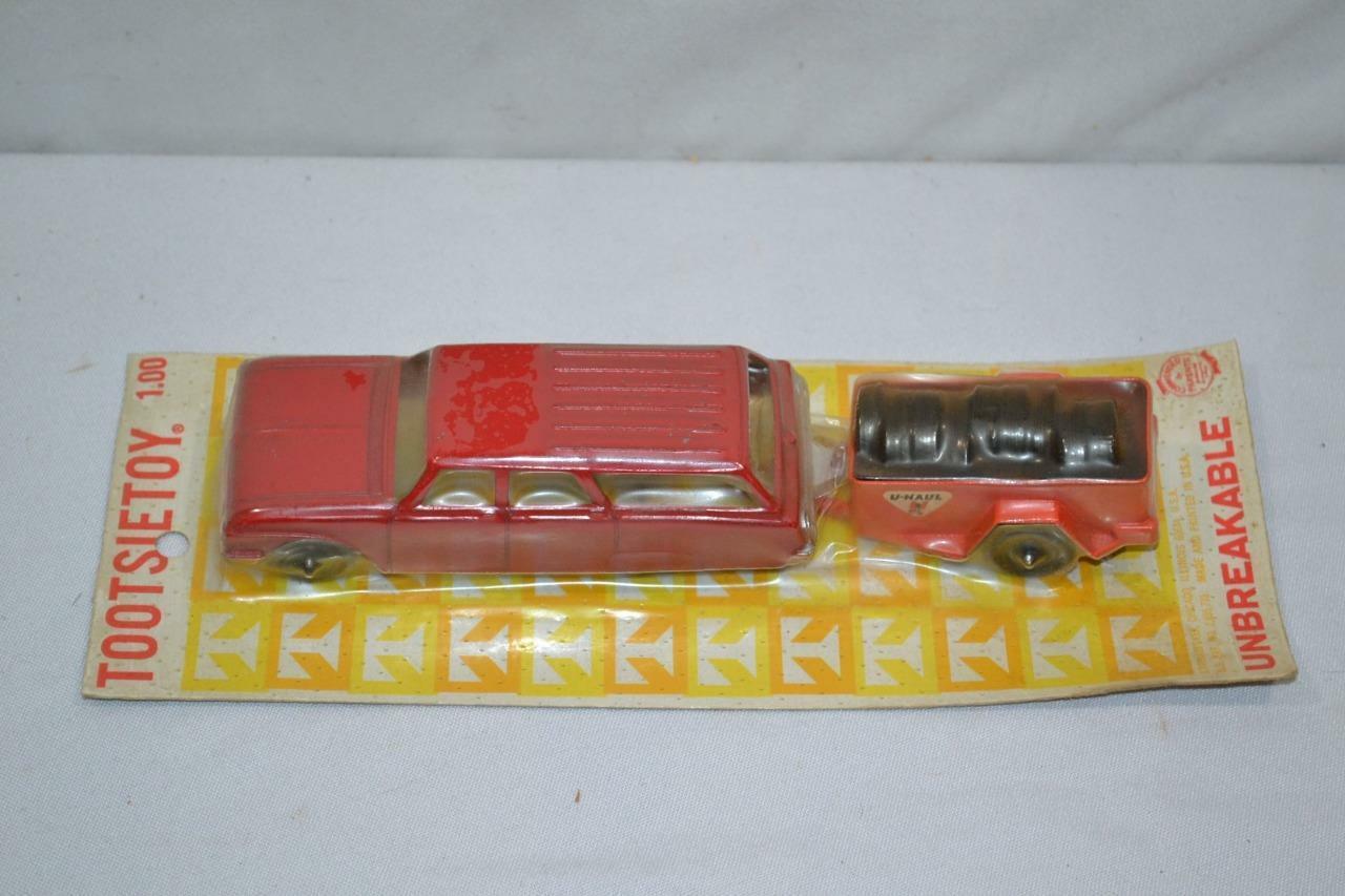 Vintage TootsieJuguete u Haul Station Wagon & Remolque Nuevo en Paquete Envío Gratis