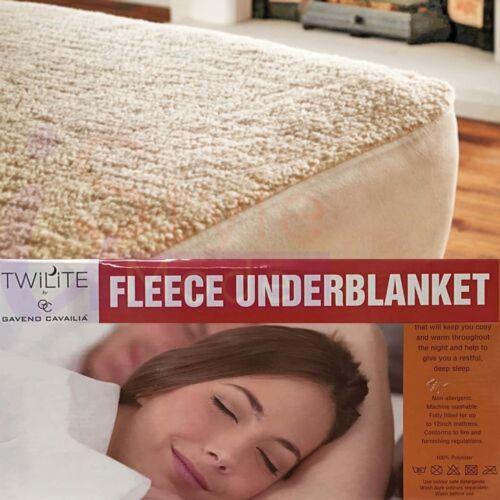 Thermal Fleece Underblanket Super Soft Warm Cosy Teddy Feel Mattress Protectors
