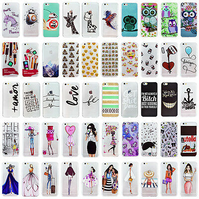2016 New! Rubber TPU Silicone Gel Phone Case Cover For iPhone 5 5S SE 6 6S Plus