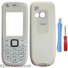 White Fascia Full Housing Case Cover Keypad for Nokia 3120 Classic 3120C +Tools