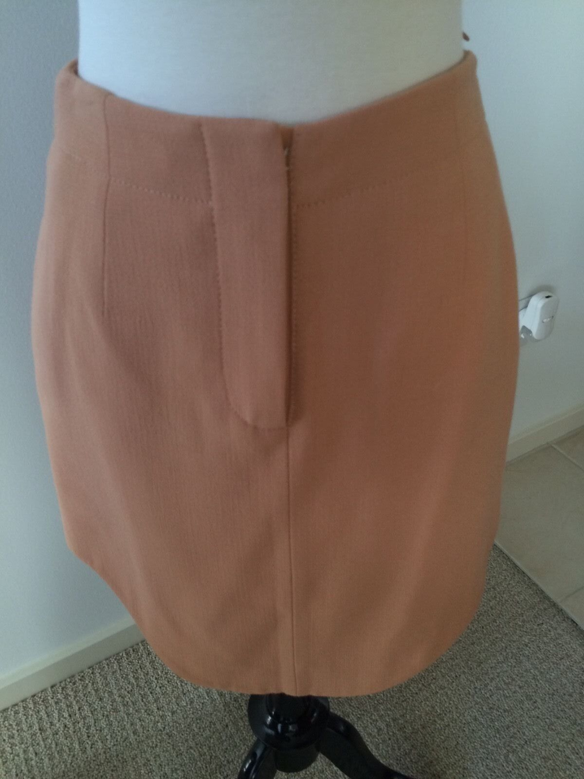CARVEN Peach Wool Blend Skirt size FR36 US4 Small NWT