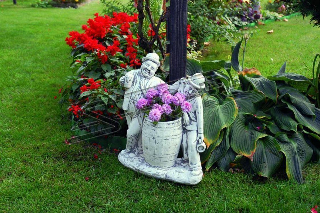 Charlie Chaplin Blaumenkübel Pflanz Kübel Dekoration Figur Blaumentöpfe Garten