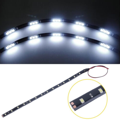 1//5pcs New 15 LED 12V 30cm Car Motor Vehicle Flexible Waterproof Strip Light EW