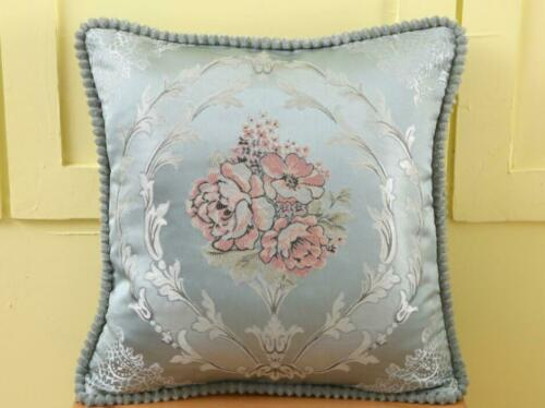 """18/"""" x 18/"""" Flower Pattern Jacquard Cushion Covers or Filled Scatter Pillow Sofa"""