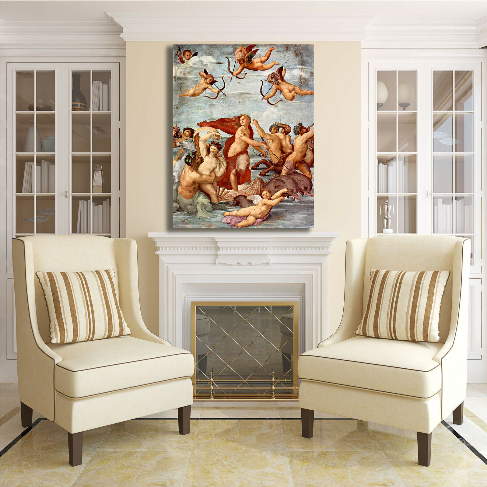Raffaello trionfo di Galatea quadro stampa tela tela stampa dipinto telaio arRouge o casa bf5751