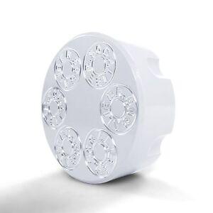6 Shooter Gas Cap Billet Aluminum White Powdercoated fits Polaris RZR 900 1000