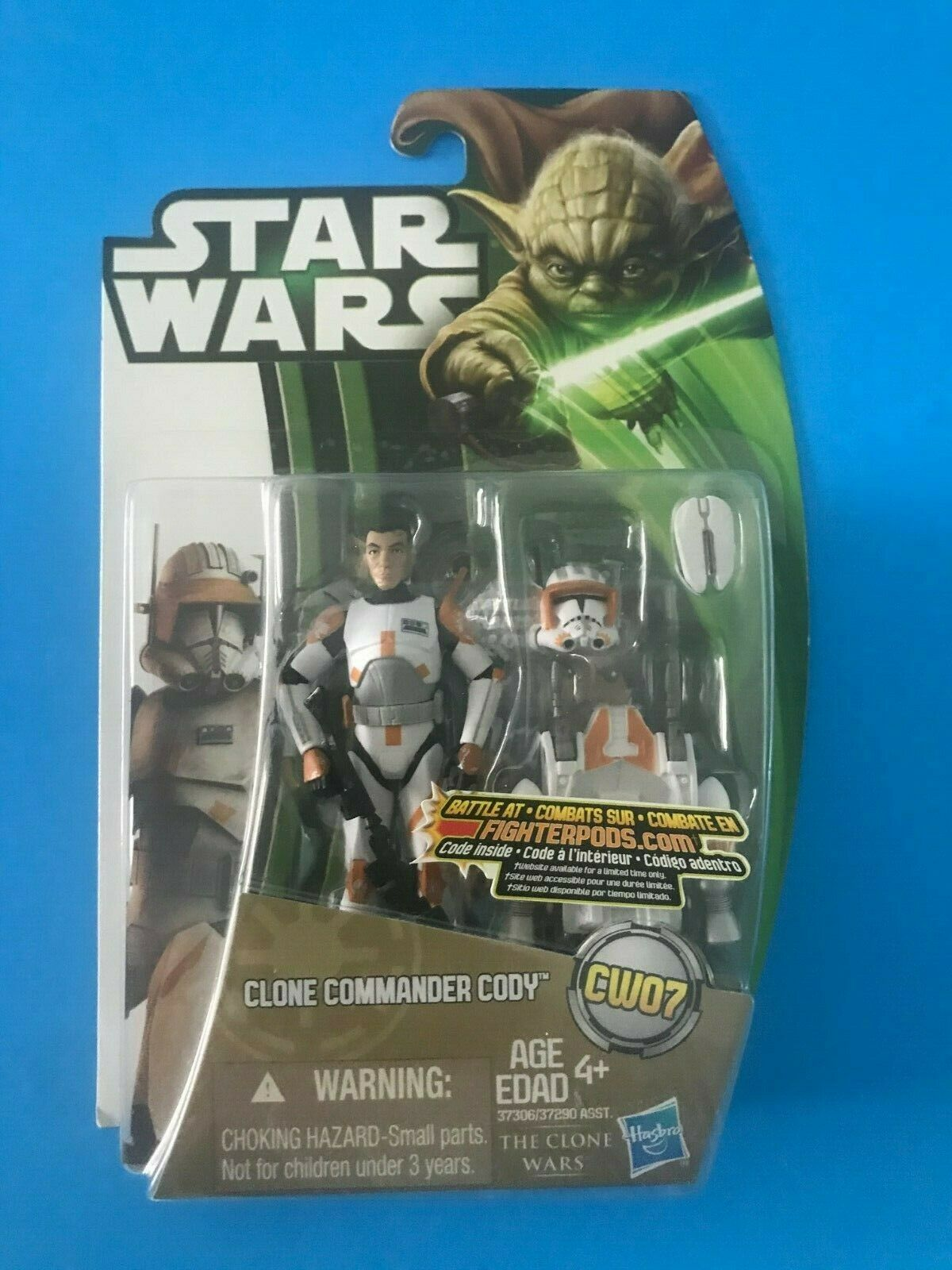 STAR WARS CLONE WARS COMMANDER CODY CW07 CANADIAN YODA CARD VARIANT