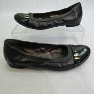 Ladies AGL Ballet Flats Black Shoes