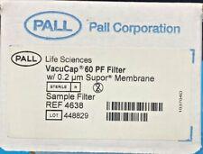 Pall Vacucap 60 Pf Filter W 02um Supor Membrane Model No 4638