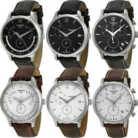Tissot T Classic Tradition Leather Strap Mens Watch (Multi Colors)
