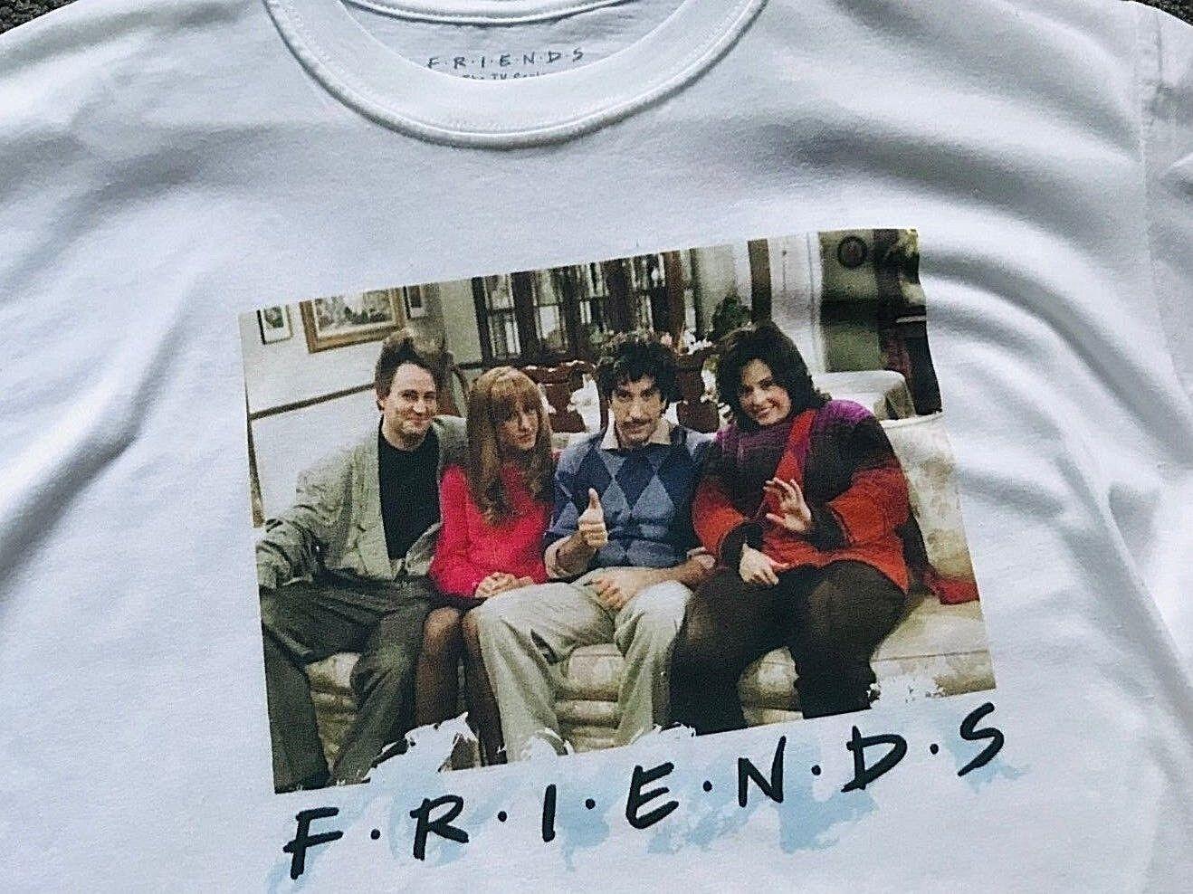 NEW + Tags  Very Rare Friends Retro TV Show Series Official Warner Bros T Shirt