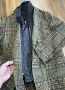 Hackett-London-Tweed-2-in-1-Lana-Virgin-Wool-Weste-Blazer-Sakko-Jacke-Jacket-M