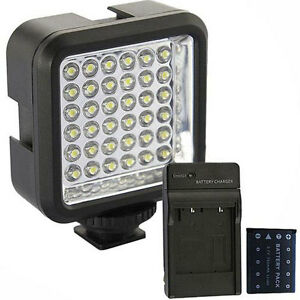 Details about 36 LED Video Light Lamp For Canon 1100D 450D 550D 60D 600D +  Battery + Charger A