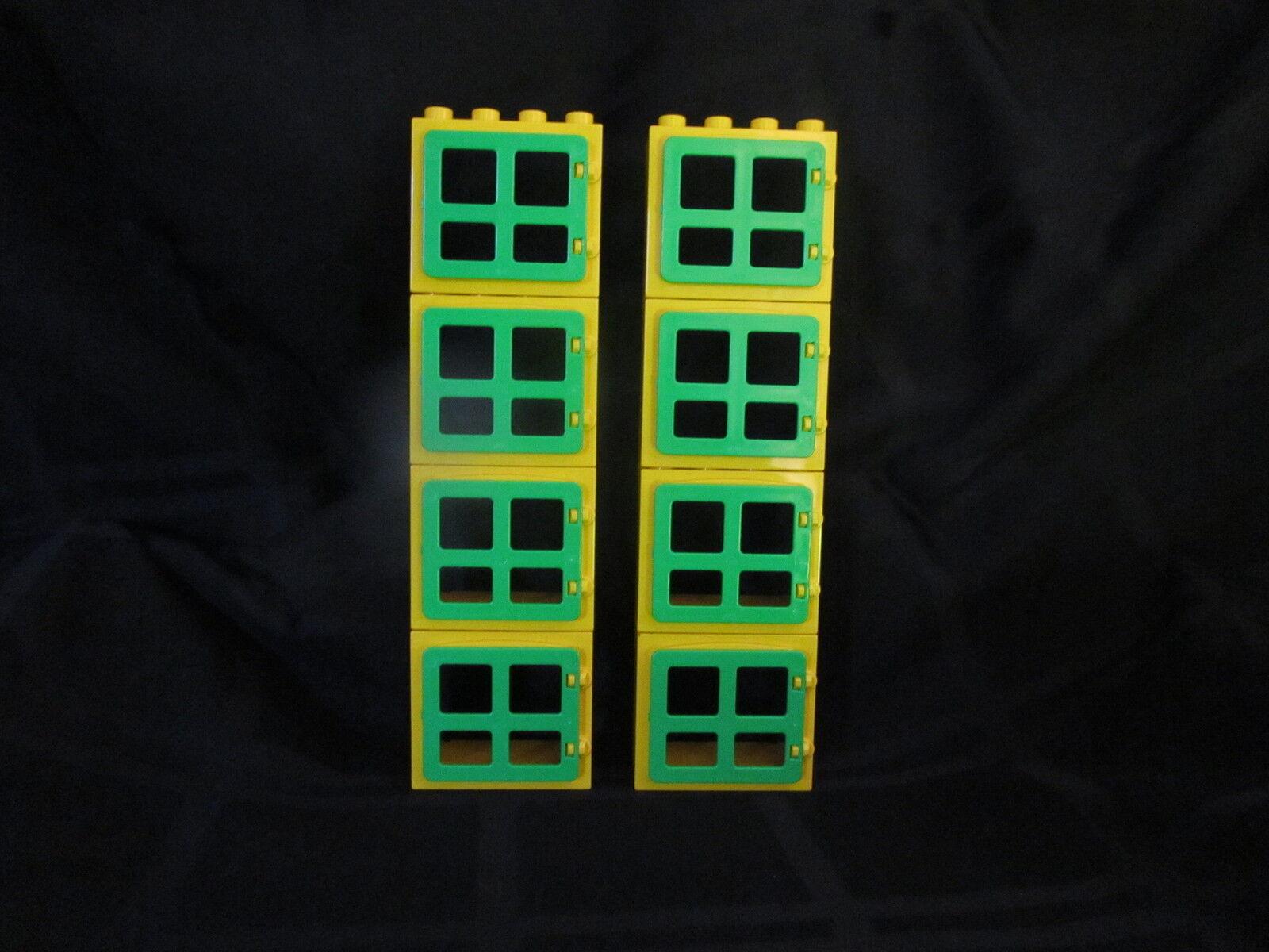Lego Duplo House Building Construction Window Box Units   LOT SET OF 8   NEW