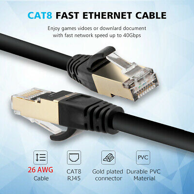 Cat7 PREMIUM Patch Cord S//FTP Ethernet Cable 6ft 10ft 50ft 75ft 100ft RJ45 Lot