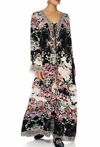 new-CAMILLA-SILK-CRYSTALS-NIGHTS-WITH-HER-LACE-UP-DRESS-W-TIERED-HEM-L-layby