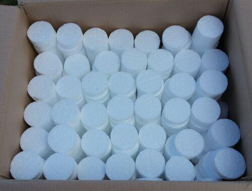 100x Styroporrondelle Ø67mm Weiß für Dämmstoffdübel Tellerdübel Dämmung WDVS
