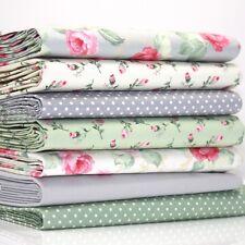 FQ Bundle - Ascot Rose Ivory Grey Green Pink Cream x 7 - Fat Quarter - Cotton Fa
