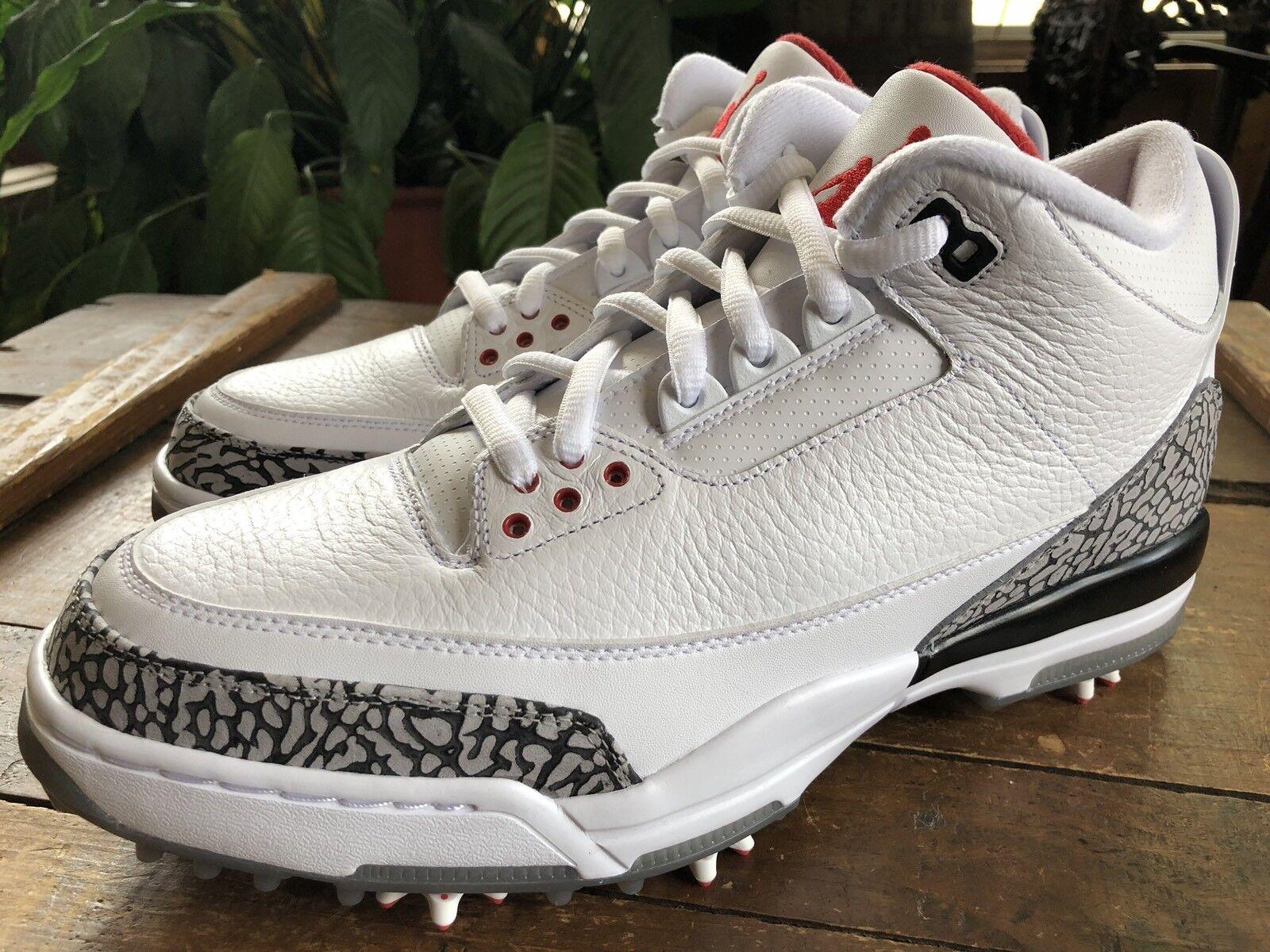 Nuove nike air jordan iii 3 vintage golf scarpette scarpe di cemento
