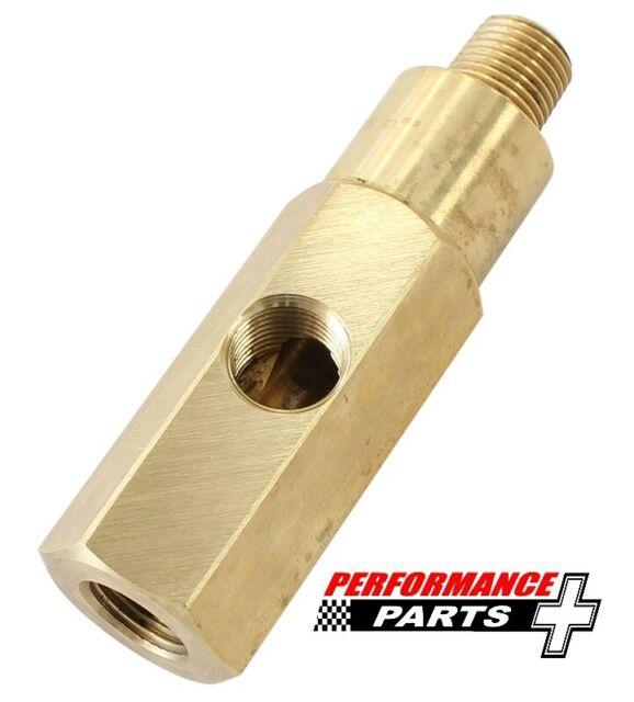 "Oil Pressure Gauge Adapter M10 x 1.0 Male/Female Thread with 1/8"" NPT AFGA-34"
