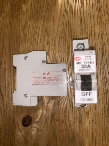 MEM 32 Amp Tipo 3//C Reja de desminado Interruptor 321MB3 Bill Eaton 321MB M9 memshield 1 32A