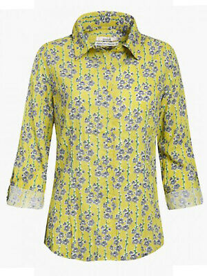 NEW  Seasalt Larissa Ladies Green patterned Shirt Blouse Top Cotton 10 14 18