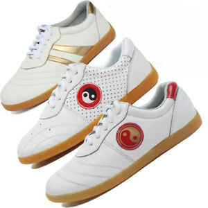 Martial Art Kung Fu Tai Chi Soft Cowhide Training Shoes Karate Taekwondo Sneaker