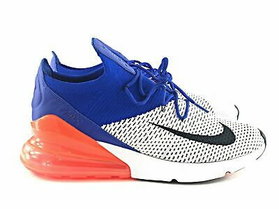 big sale ddf1f bbb6d Air Max 270 Flyknit New York Knicks White Blue Orange AO1023 ...