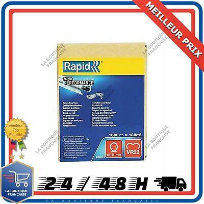 1600 Gris 40108810 5-11 mm Agrafes de grillage galvanisées VR22 Rapid
