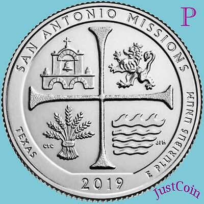 BU BANK WRAPPED QUARTER ROLL BRAND NEW 2019 P SAN ANTONIO MISSIONS ATB W??
