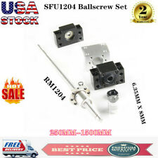 Ball Screw Sfu1204 Rm1204 250mm 1500mm 12mm With Ballnut End Supports Bk10bf10