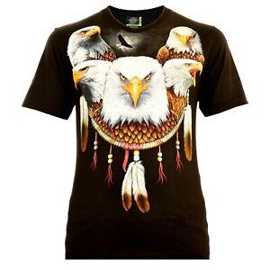 Rock Eagle Herren T-Shirt Schwarz Live to Ride Rocker Style Biker Designe Adler