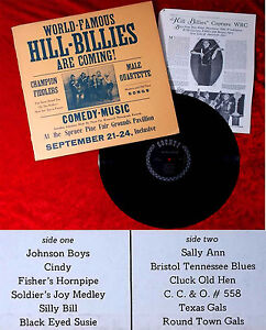 LP-Hill-Billies-World-Famous-Hill-Billies-are-coming-Country-405-US-1974