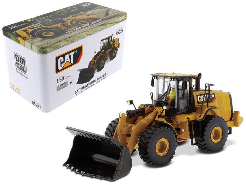 1 50 camiones de coche de ingeniería Cat 972 M Cargador de rueda Diecast Modelo de juguete 85927
