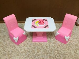 1992-Barbie-Doll-Home-Table-Chair-Set-Formal-Royal-Dining-Room-Furniture-Playset