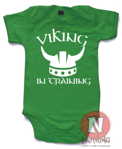 Viking in Training Süß Strampler Baby Anzug Tolles Geschenk Top Ragnor Lothbrok