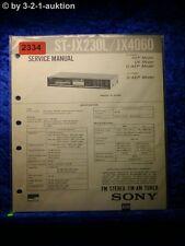 Sony Service Manual ST JX230L / JX4060 Tuner  (#2334)