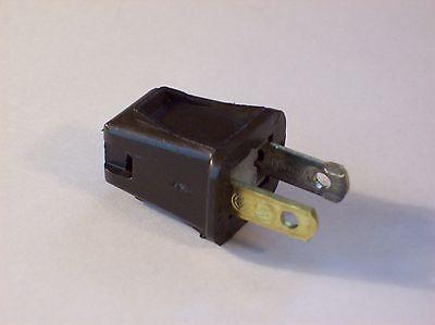 LEVITON BLACK 1-2-3 SNAP ON PLUG POLARIZED 18//2 SPT1 LAMP CORD 30030J
