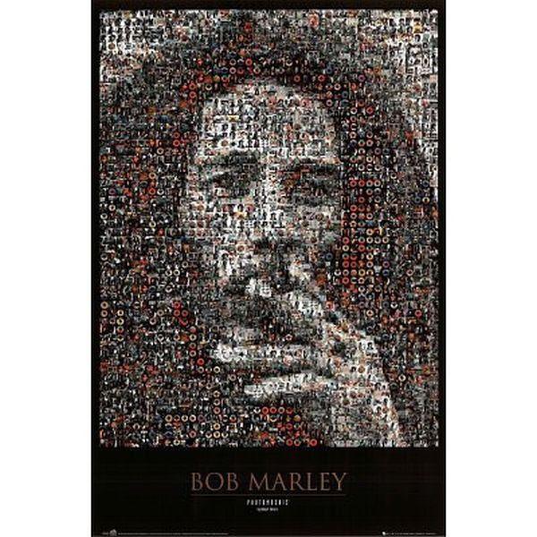 REGGAE MUSIC POSTER Bob Marley Mosaic II