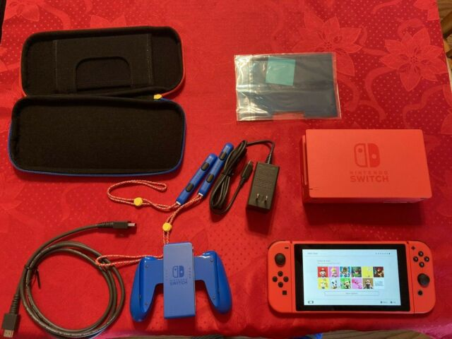 Nintendo Switch Mario Red and Blue Limited Edition Console NA Version BRAND RARE