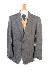 Vintage-Harris-Tweed-Bodyguard-Houndstooth-Blazer-Jacket-Chest-44-Grey-HT2539