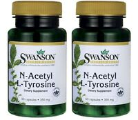 2-pack N-acetyl Nac L-tyrosine 60 Caps By Swanson Powerful Amino Acids 2 X 60