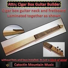 Cigar Box Guitar.Neck Kit, Hardwood Neck 3-string. DIY -n