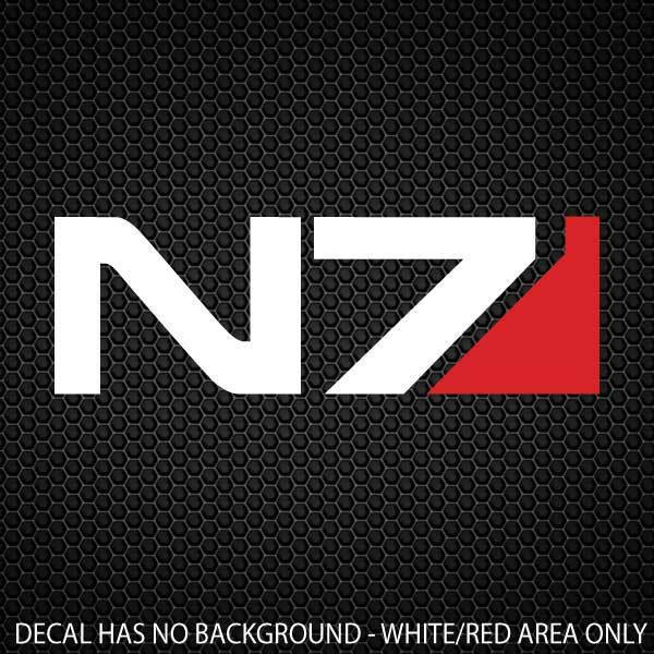 N7 Decal Mass Effect 170x55mm [6 4/5x2 1/5in]