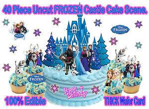 EDIBLE Disney Princess FROZEN CASTLE WAFER Figures StandUp