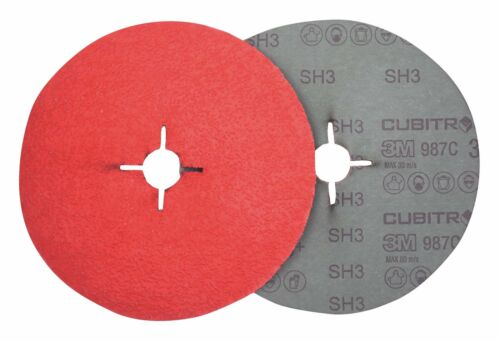 3M Fiberschleifscheibe Cubitron II 987C 125mm P080+ 460630