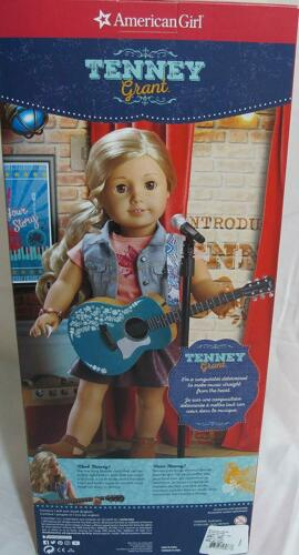 """NEW in Box American Girl 18/"""" Tenney Grant Doll Book Outfit Blonde Hair Musician"""