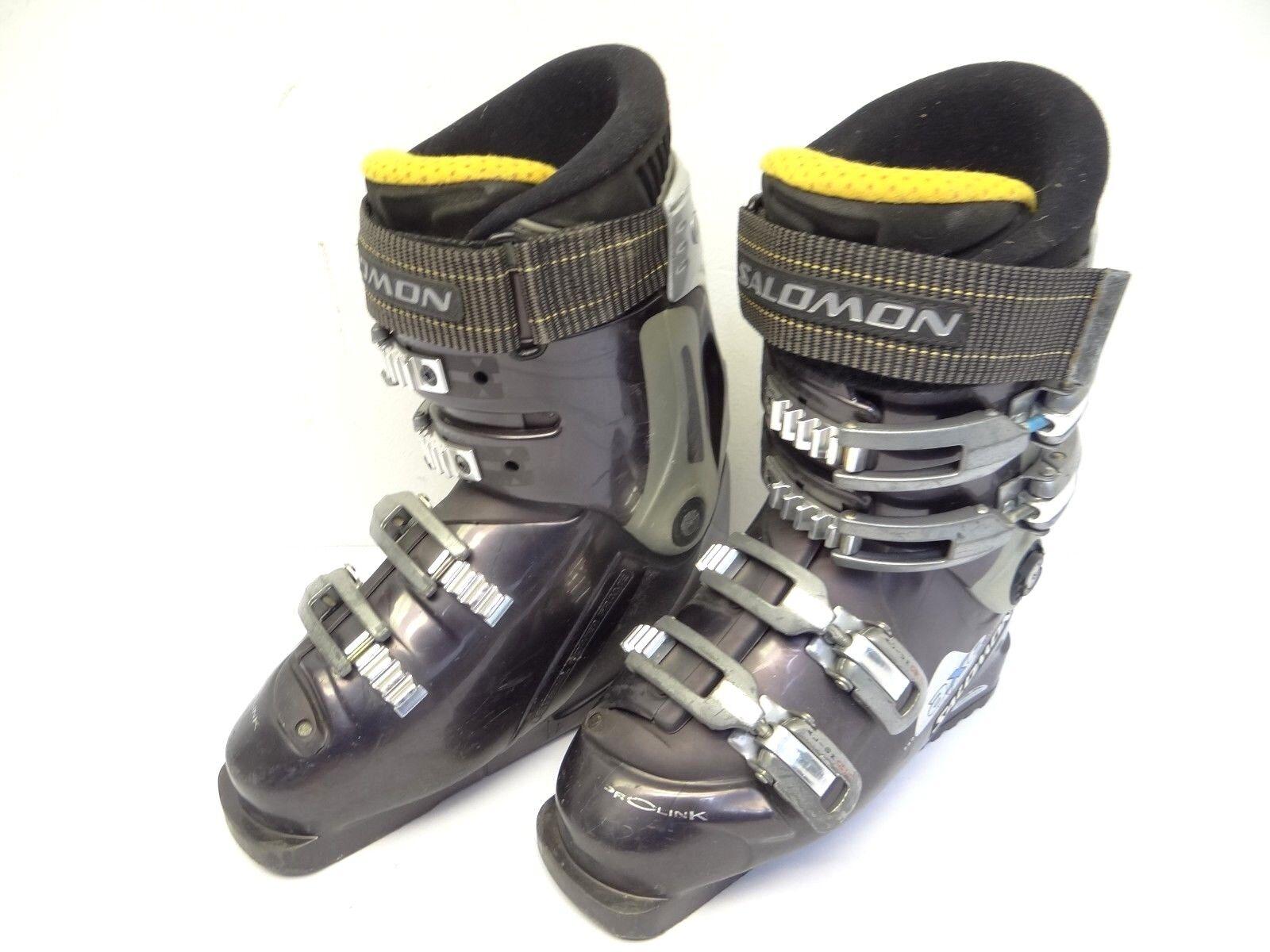 Used Salomon ProLink AXE Technology Damenschuhe US Größe 6 Ski Stiefel Custom Fit Insole